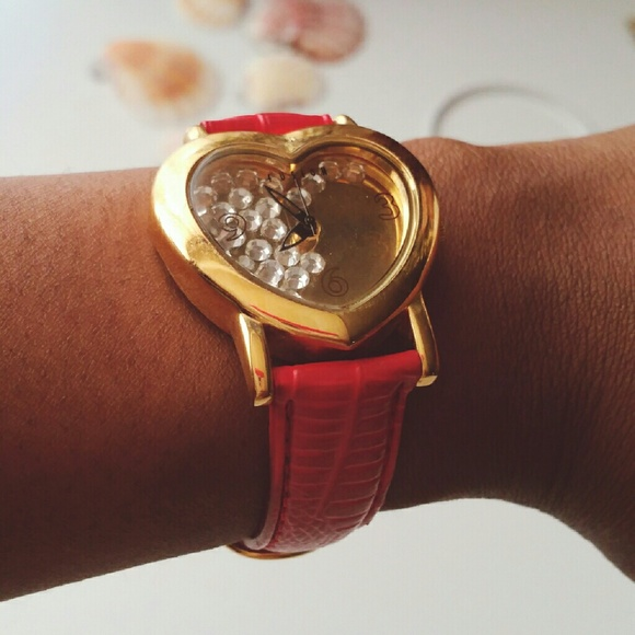 Dakota Watch Accessories - Heart Shaped Goldtone Watch