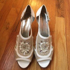 Anne Klein White Heels