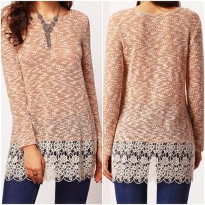 Long sleeve with lace top. Price firm.