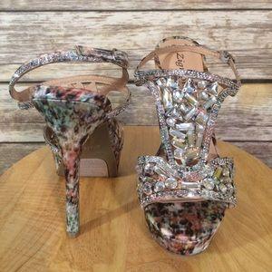Zigi Soho Shoes - ZIGI SOHO Rhinestone Stiletto Heel Sandal