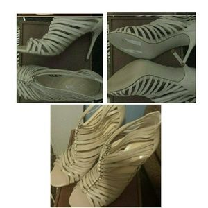 Cream Leather Enzo Heels (still available not sold
