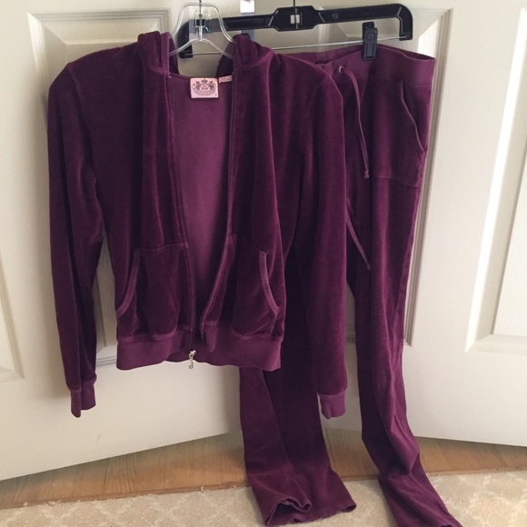 f63b6d4f4840 Juicy Couture Tops - Burgundy Juicy Couture Tracksuit
