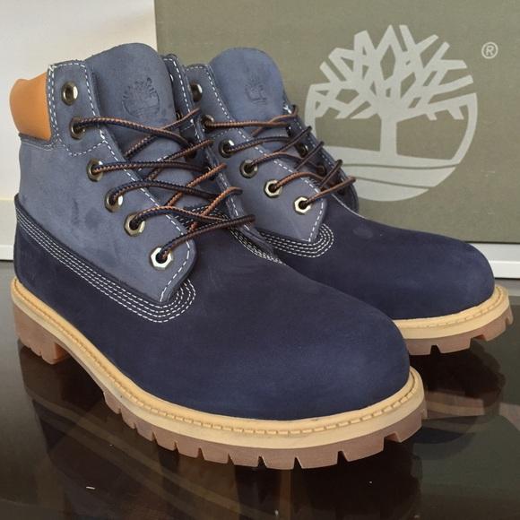 3cda3c5ee847 Timberland Blue Nubuck Premium KIDS 3