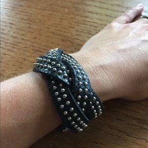 Jewelry - Black Pebble Leather Braided Bracelet