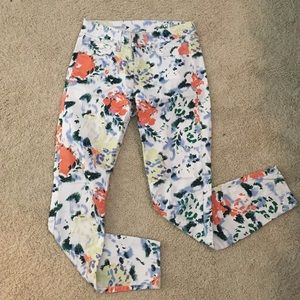 Gap Legging Jean - Floral and Ecru - Sz 26
