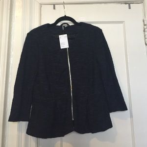 Fitted tweed zipper jacket brand new