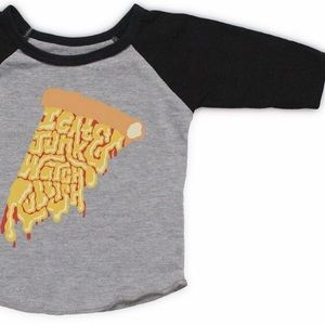 Graphic Pizza Kids Raglan