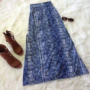 Joe Benbasset Dresses & Skirts - Blue maxi skirt with side slits