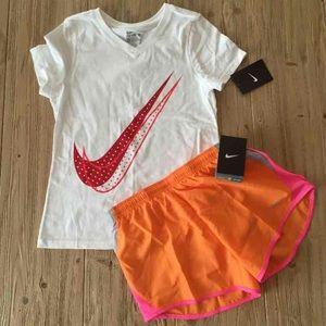 Nike Other - Nike girls medium shirt and short lot