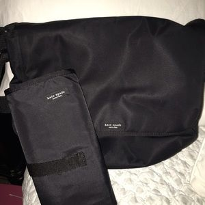 Kate Spade Handbags - Black Nylon Kate Spade Messenger Diaper Bag