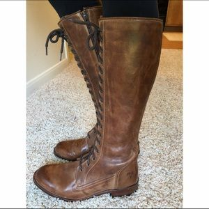 30 frye shoes frye lace up knee high brown leather