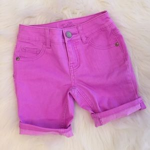 Justice Other - Justice Neon Purple Stretch Bermuda Shorts 8R NWOT
