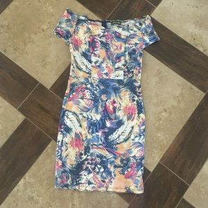 Maude Floral Off the shoulder Dress