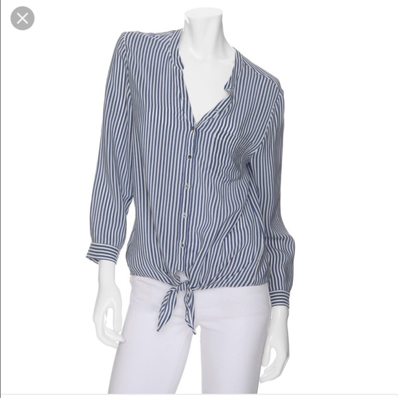 ad14a41b4e812 Joie Tops - Joie striped tie front blouse