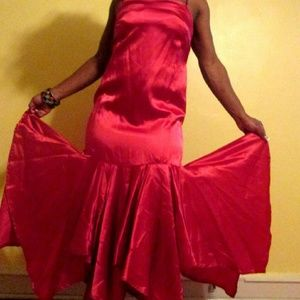 Vintage Red Summer Party Dress Size 4
