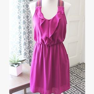 Ruffled Magenta Sundress
