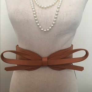 Accessories - Brown Bow Stretchy Belt