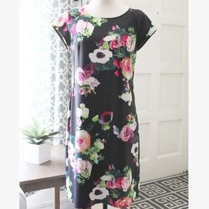Floral Burst Shift Dress