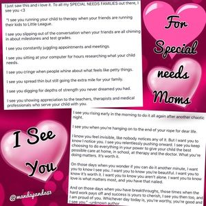 💖For Mothers of Special Needs Children💖PLS Read