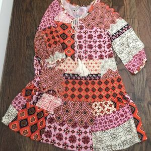 Pomelo patchwork boho dress