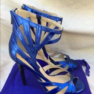4715cc899b9 Jimmy Choo Shoes - JIMMY CHOO H   M metallic blue caged 5