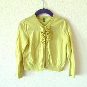 United Colors Of Benetton Other - Green ruffled cardigan