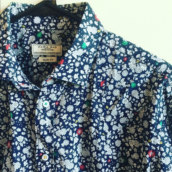 9c164c09 Zara Man Floral Print Button-Up Shirt. M_57954545d14d7bbd76011251