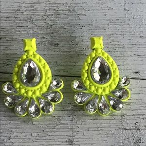 Neon Rhinestone Statement Earrings