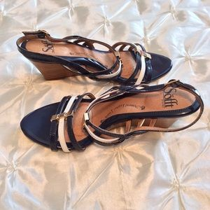 Sofft Shoes - Sofft Navy & White Wedges