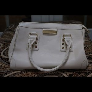 NEVER USED Ivory & Gold Purse w/ Adjustable Strap