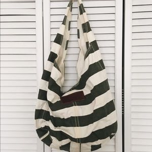 Abercrombie & Fitch Handbags - striped Abercrombie and Fitch tote