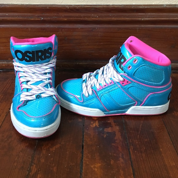 Osiris Shoes   Blue And Pink High Top