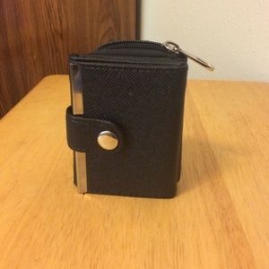 Black and silver wallet