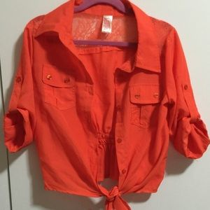 Other - Orang girls top size 10