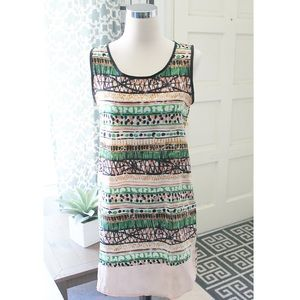 Tribal Inspired Shift Sleeveless Dress