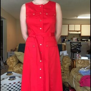 Marvin Richards Dresses & Skirts - Beautiful red button down dress