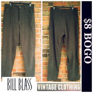 EUC Bill Blass Stretch Jean Dark Green Micro Suede