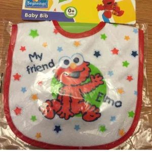 Other - Sesame Street Baby Bib new with plastic No trsdes
