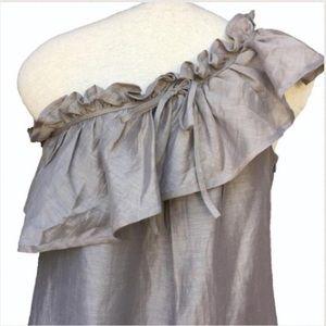 Zara One Shoulder Ruffled Dress