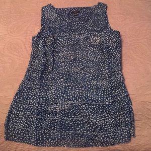 Ann Taylor ruffled tier sleeveless shirt size XXSP