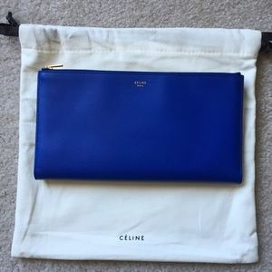 Celine Handbags - Celine Trio Clutch (Indigo Blue)