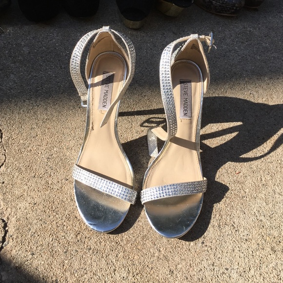 Steve Madden - Steve Madden silver stone heels from Ashley&39s