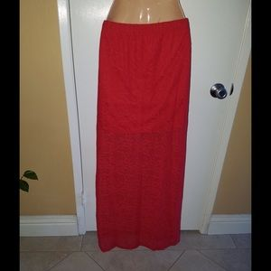 Skirt in red