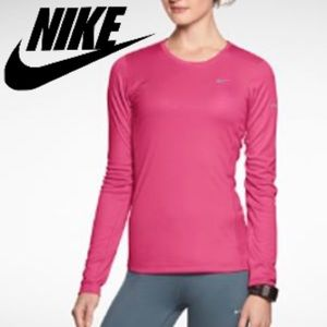 Nike Tops - Lowest priceNike dri-fit hot pink long sleeve top