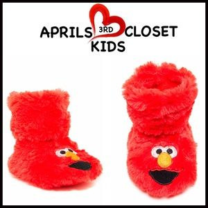 Boutique Other - ❗️1-HOUR SALE❗️ELMO SLIPPERS Faux Fur Sock Slipper