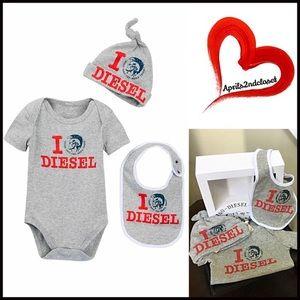Diesel Other - DIESEL 3 Piece Gift Box Set Bodysuit, Hat & Bib