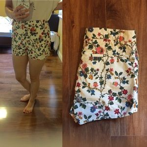 COS Pants - COS High Rise Floral Shorts