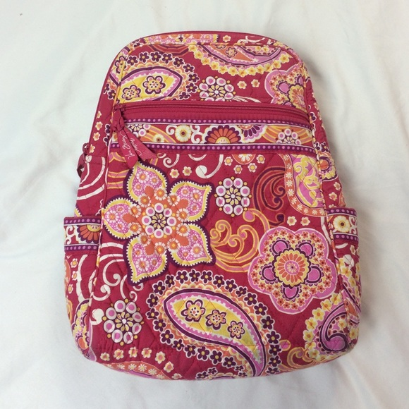 80631b010 Vera Bradley Bags | One Day Sale Raspberry Fizz Vb Backpack Purse ...