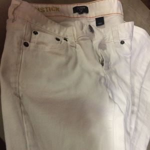 J.Crew white matchstick skinny jeans.