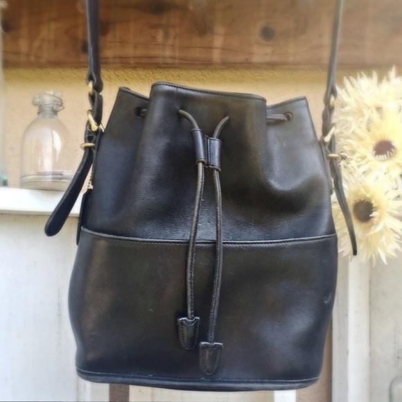 1d4eeed11b933 Coach Handbags - VINTAGE BUCKET Coach Bag Drawstring Black